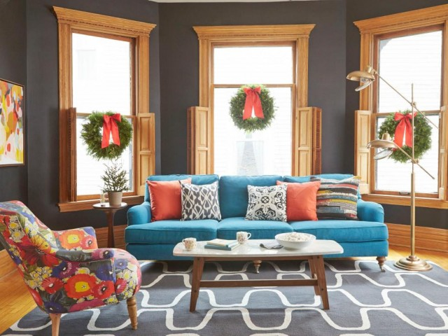 Making it Lovely's Living Room in HGTV Magazine's Christmas 2015 Issue