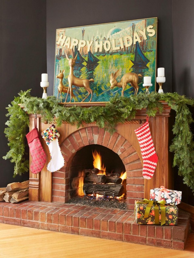 Making it Lovely's Fireplace in HGTV Magazine's Christmas 2015 Issue