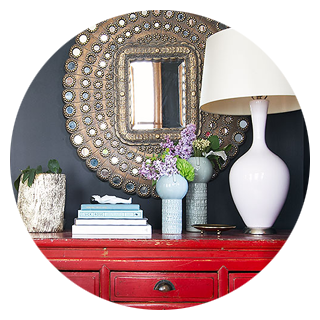 Vintage Red Console Table
