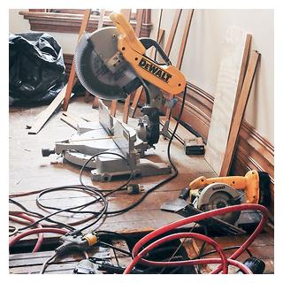 Repairing Subfloor and Replacing Wood Flooring
