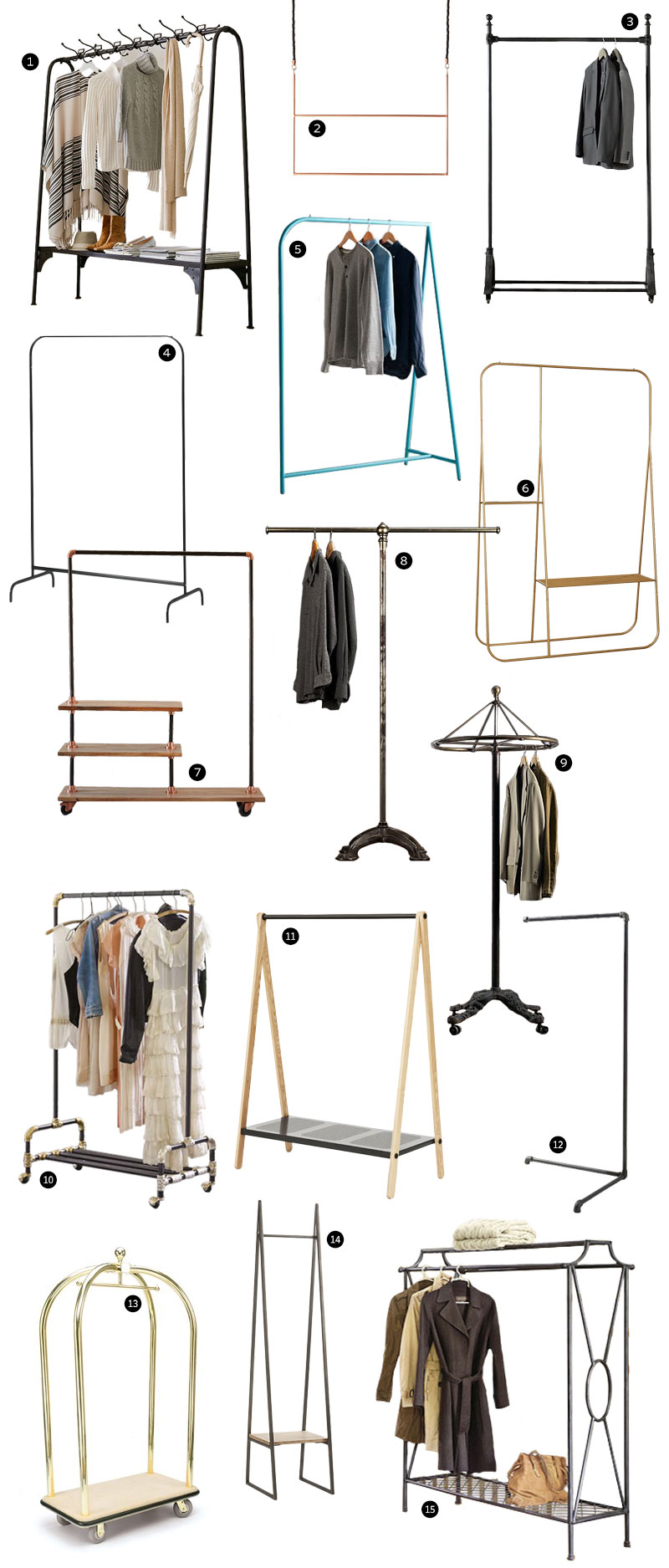 15 Stylish Garment and Coat Racks