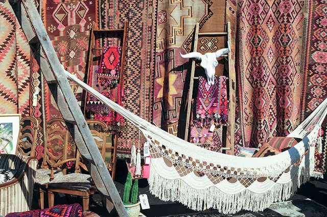 Vintage Rugs and a Hammock at Randolph Street Market #LoveYourThings #Scotchgard