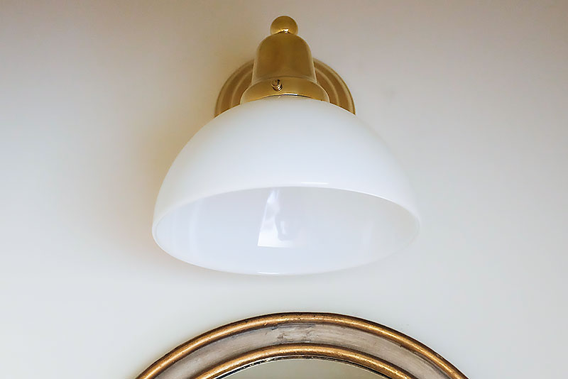 Brass and Milk Glass Sconce