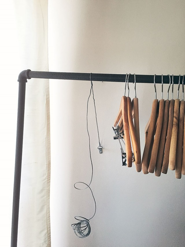Anchoring a Garment Rack