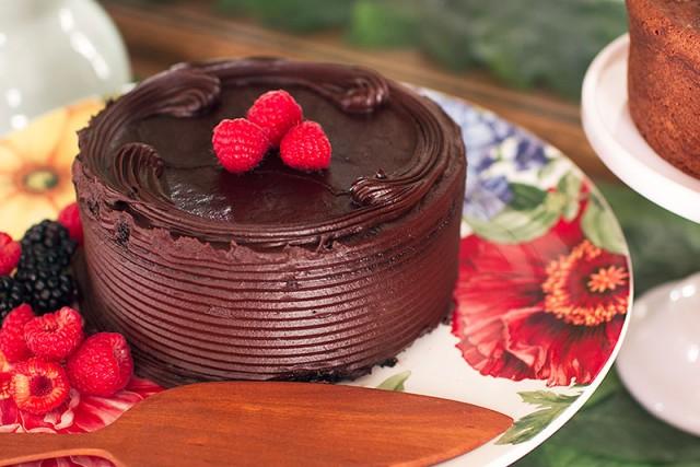 Botanical Print Cake Stand