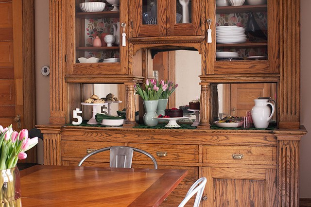 Oak Sideboard in the Dining Room