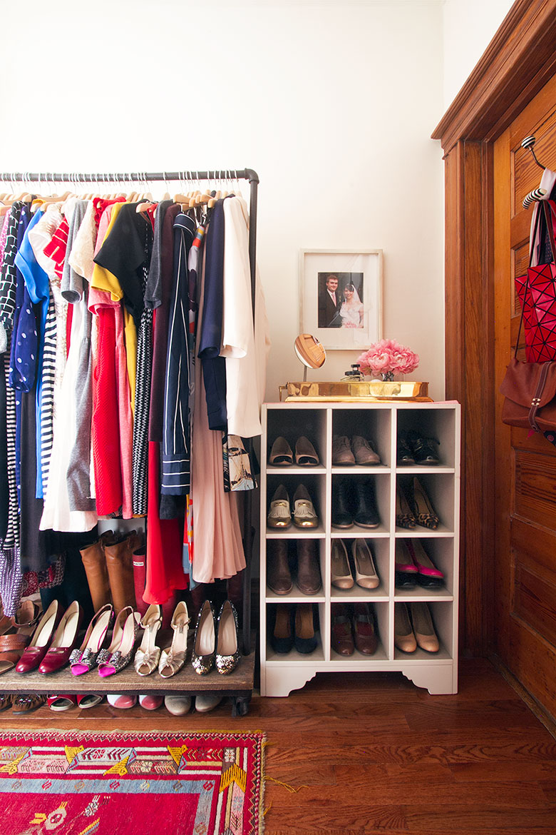 Garment Rack and Shoe Cubby Organizer | Making it Lovely's Closet