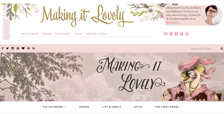 Making it Lovely Blog Headers