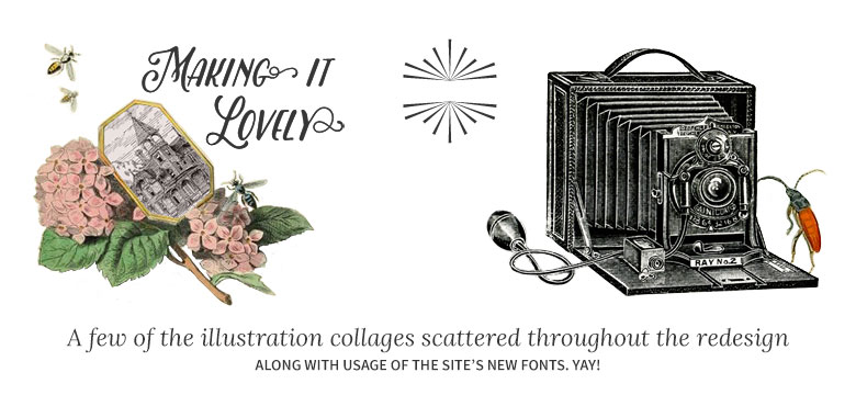 Making it Lovely: Redesigned Site Illustrations