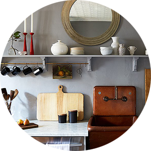 A Kitchen Makeover by Megan Pflug with a Terra Cotta Sink