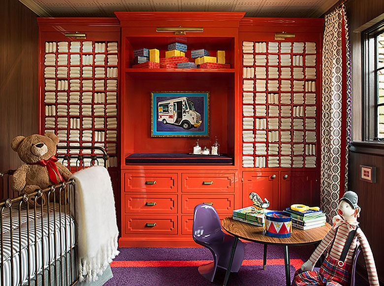Nursery by Steve and Filip Design, Inspired by The Grand Budapest Hotel, Photo by Wittefini Photography
