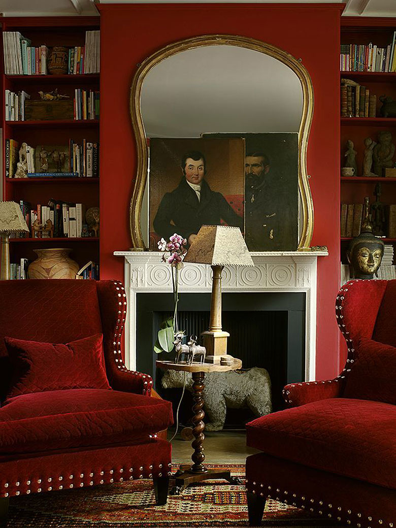 Red Library Study by John Charles