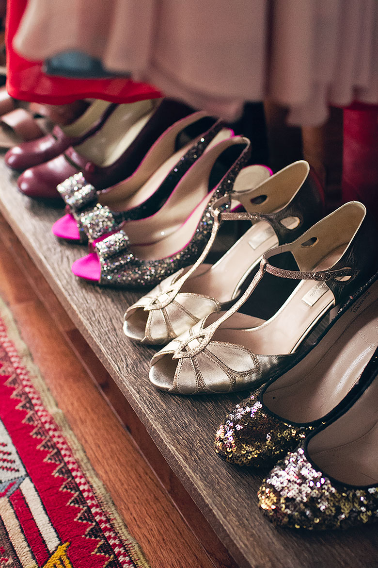Sparkly Shoes in the Closet | Making it Lovely