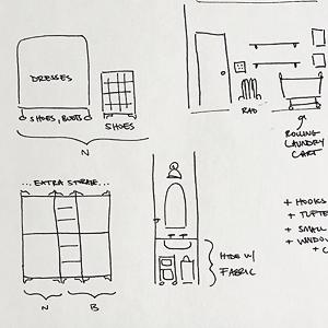 Closet Plan Sketch
