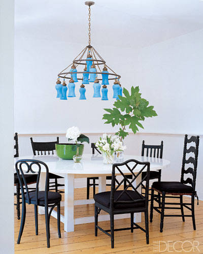 Sarah Jessica Parker's Dining Room, Designed by Eric Hughes, Featured in Elle Decor