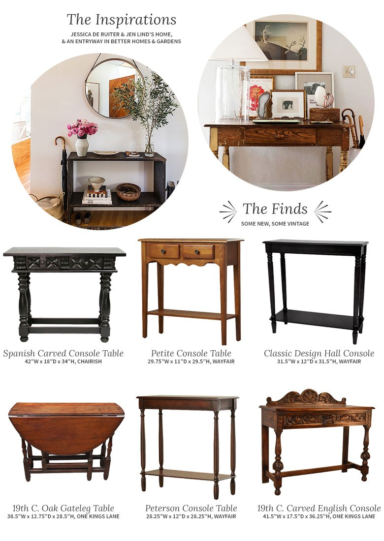 Choosing a Console Table and Mirror for an Entryway - Making it Lovely