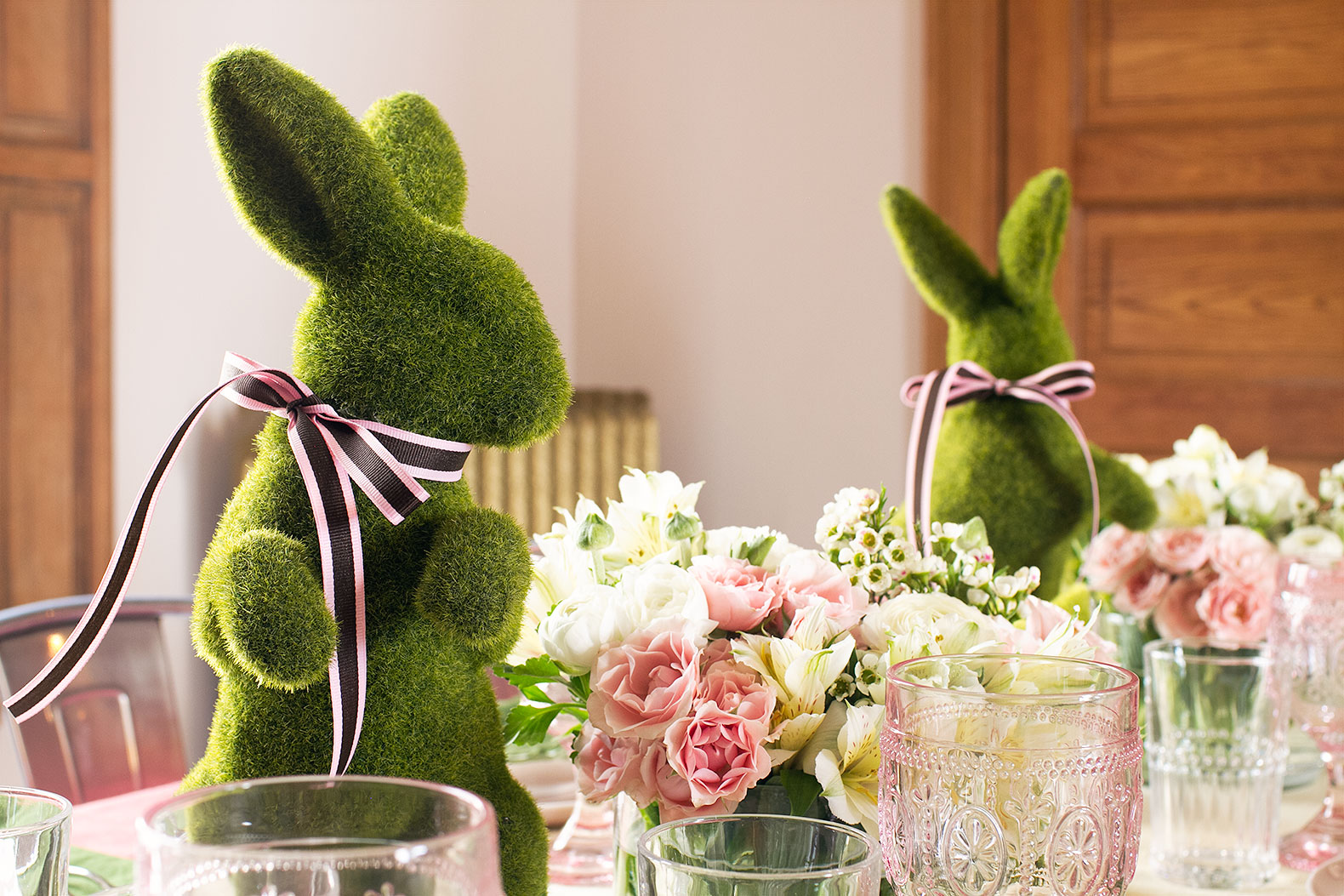 A Pink And Green Easter Table Making It Lovely