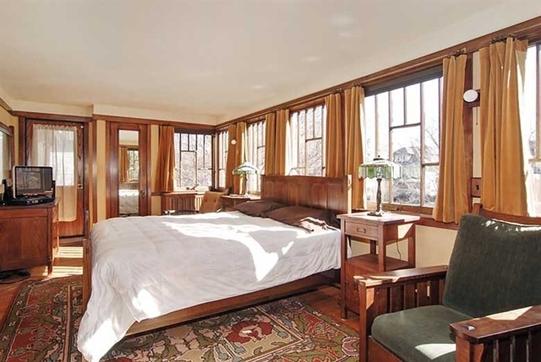 Oscar B. Balch House Bedroom, Frank Lloyd Wright, Oak Park