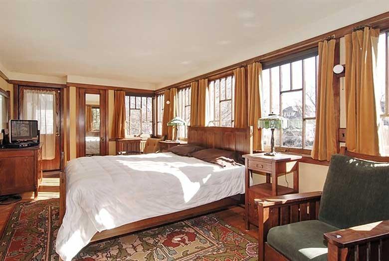 Oscar B. Balch House Bedroom, Frank Lloyd Wright, Oak Park