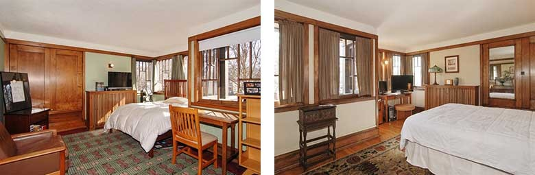 Oscar B. Balch House Bedrooms, Frank Lloyd Wright, Oak Park