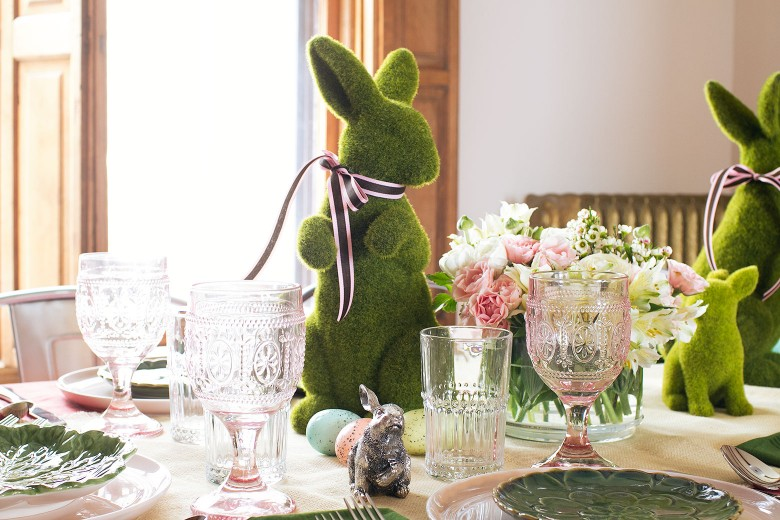 A Pink and Green Easter Table with Pier 1 | Making it Lovely