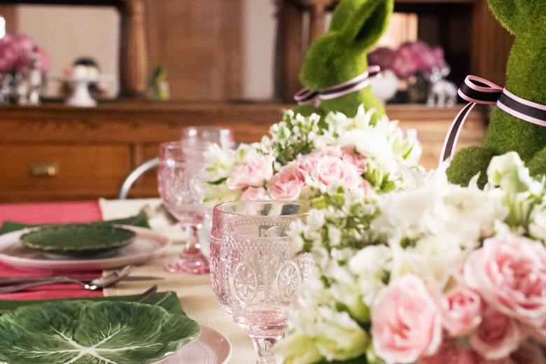 Pink and Green Easter Table Settings with Pier 1 | Making it Lovely
