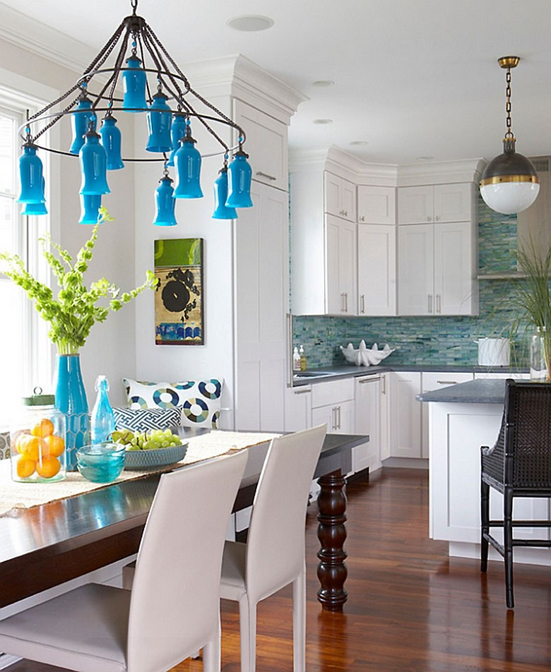 Sara Chandelier and Hicks Pendant - Rachel Reider Interiors