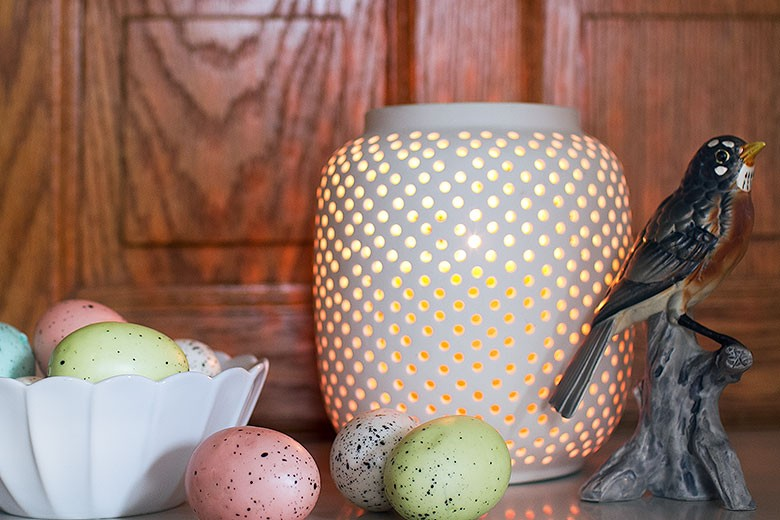 Speckled Eggs and a Vintage Robin