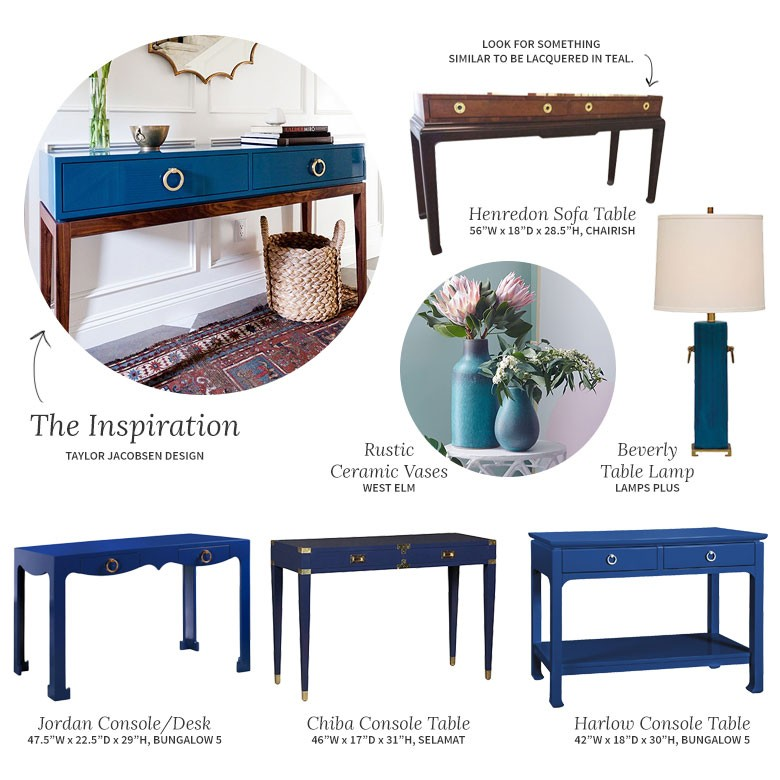 Teal Console Tables