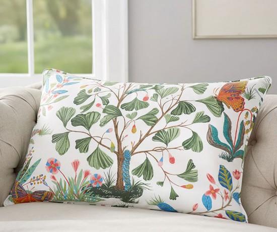 Evie Floral Print Lumbar Pillow