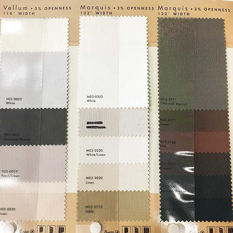 Allen + Roth Solar Shade Fabric Options