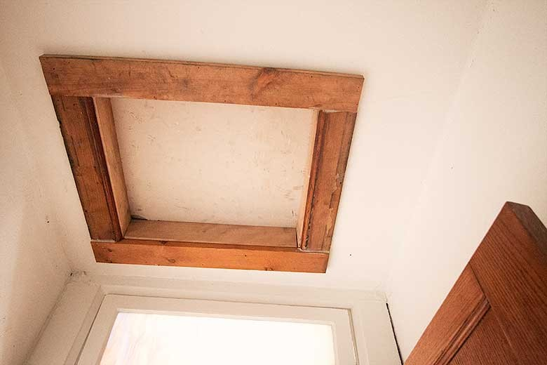 New Scuttle Hole for Rewiring, Attic, Unfinished