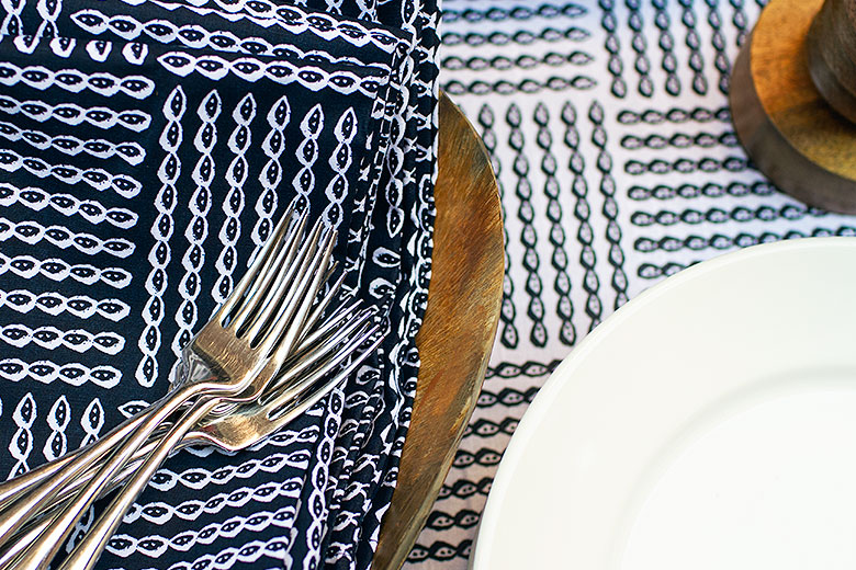 Rope Patterned Napkins and Tablecloth from Target