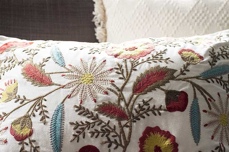 Embroidered Pillow from Pier 1