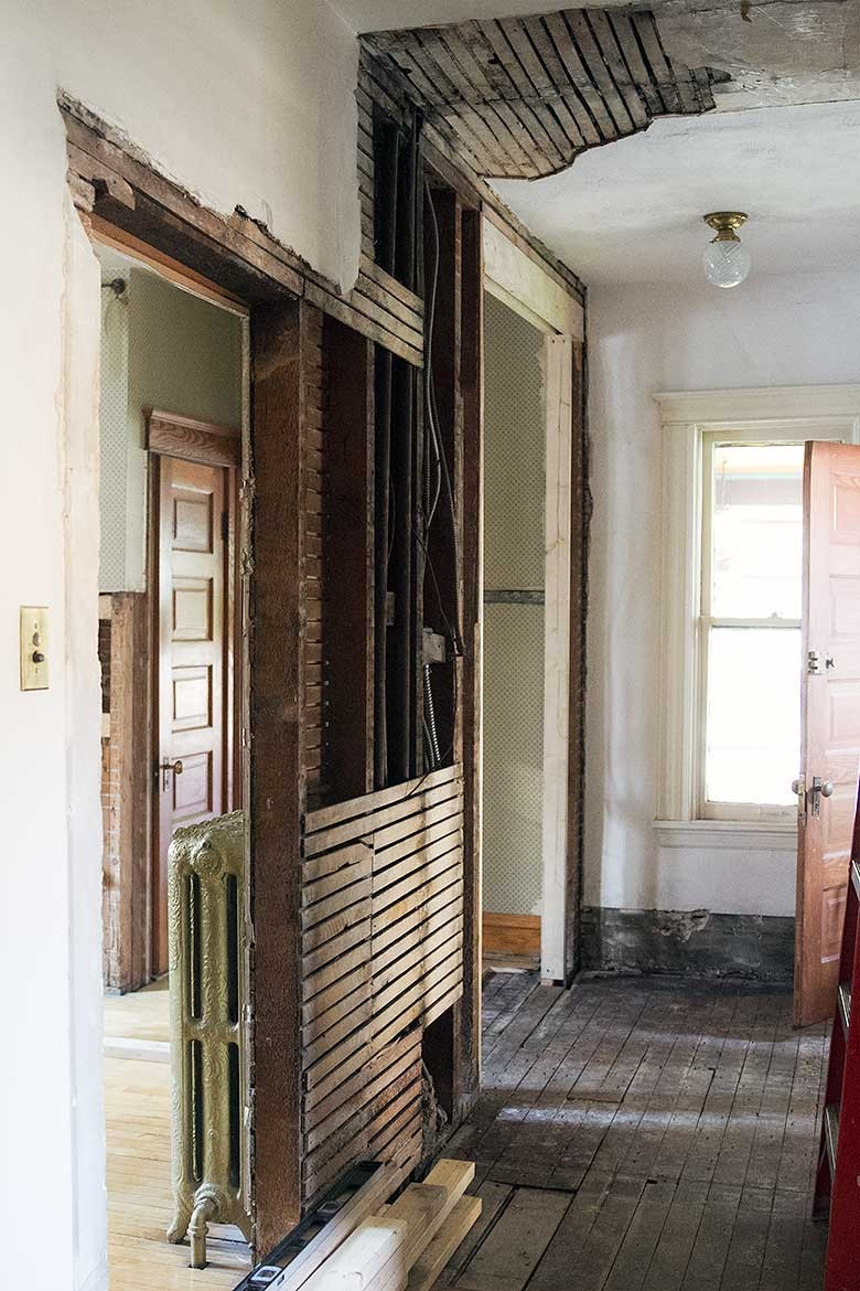 Setbacks In Rewiring Our 1891 Victorian House Making It Lovely Average Cost Of A 4 Bed Second Floor Hallway Being Remodeled