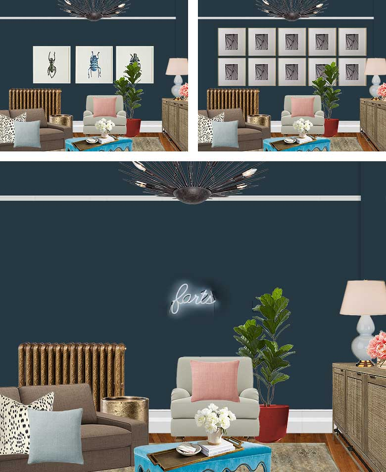 Sitting Room Art Wall Mockups | Making it Lovely