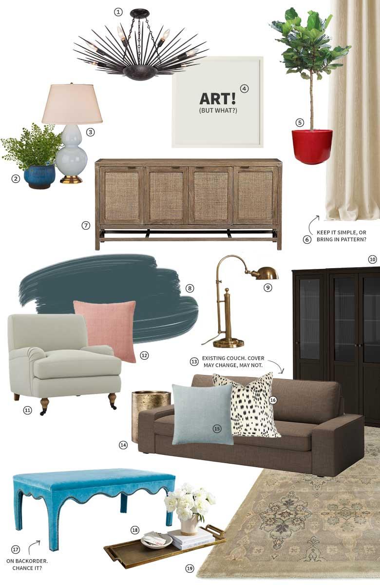 One Room Challenge: Den / Sitting Room Plan | Making it Lovely