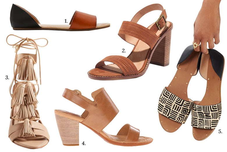 Spring and Summer Leather Sandals