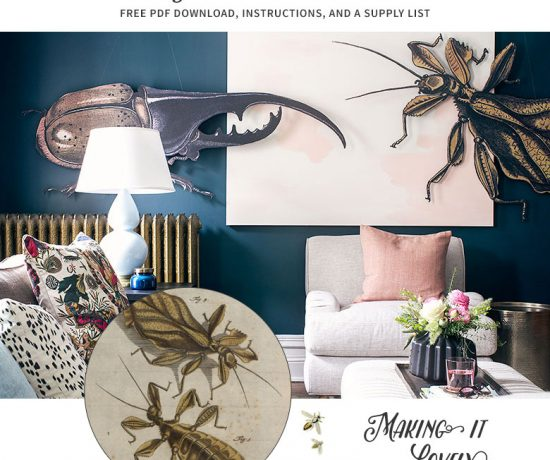 Free Download - DIY Huge Insect Antique Illustration Art | Making it Lovely