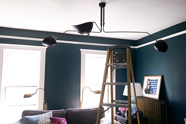 Taking down the lighting fixture
