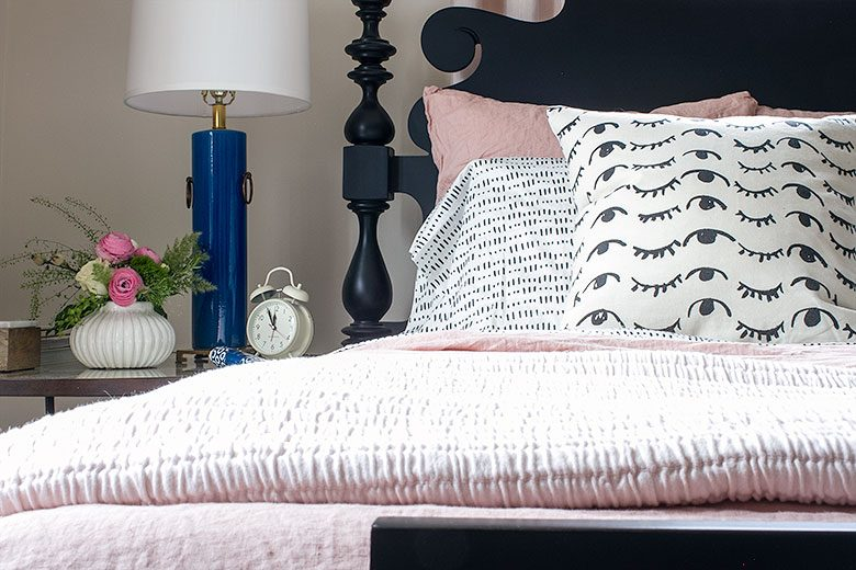 Wink Wink Pillows by People I've Loved | Making it Lovely's One Room Challenge Bedroom