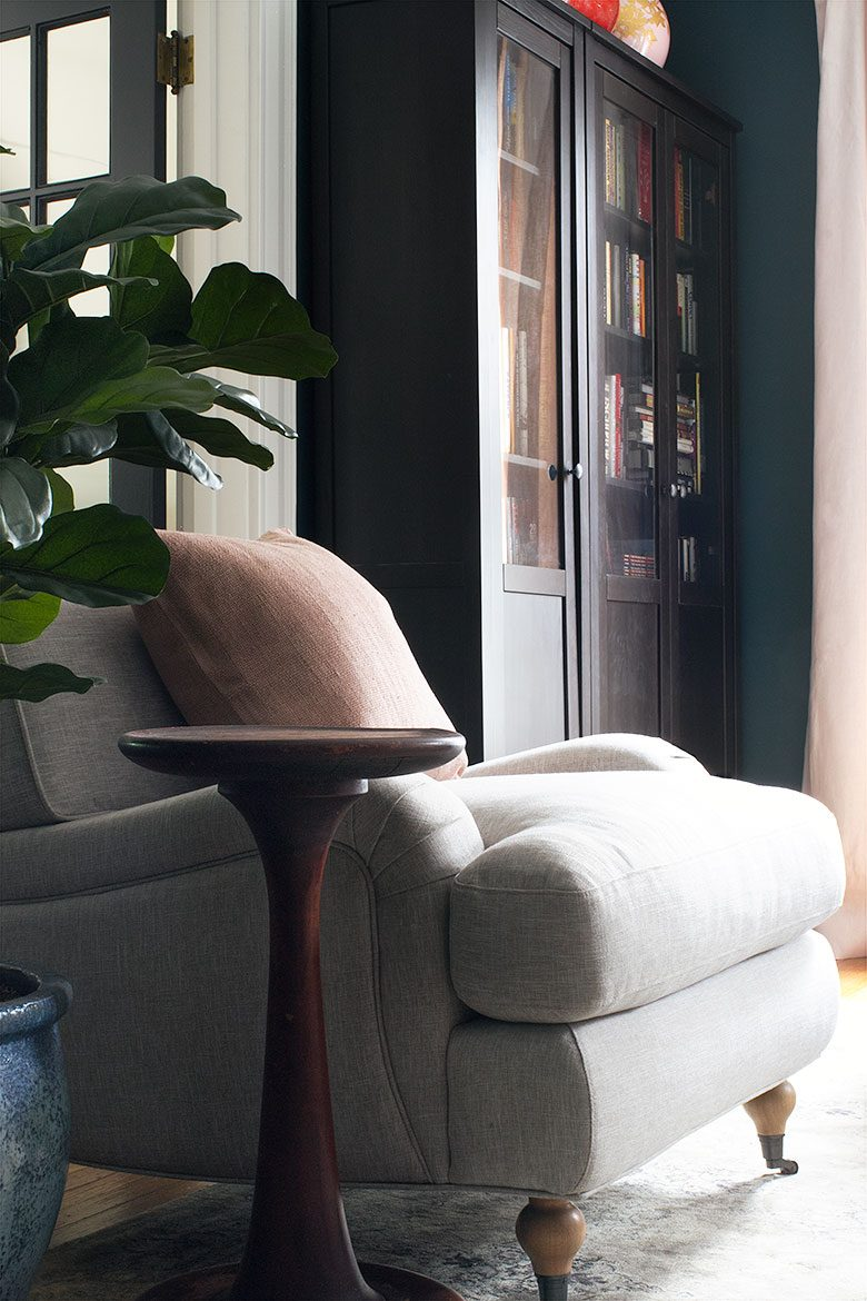 The Comfy Rose Chair from Interior Define | Making it Lovely's One Room Challenge Den