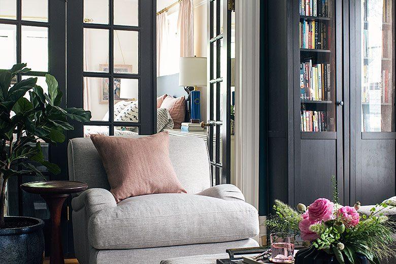 Looking Toward the Bedroom | Making it Lovely's One Room Challenge Den