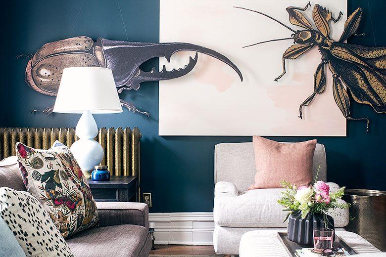 DIY Huge Insect Art | Making it Lovely's One Room Challenge Den