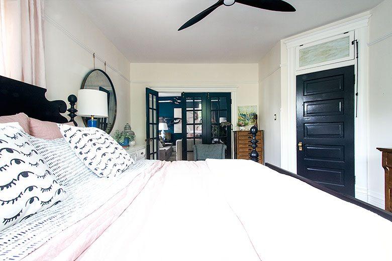 Bedroom, Looking Toward the Den | Making it Lovely's One Room Challenge Bedroom