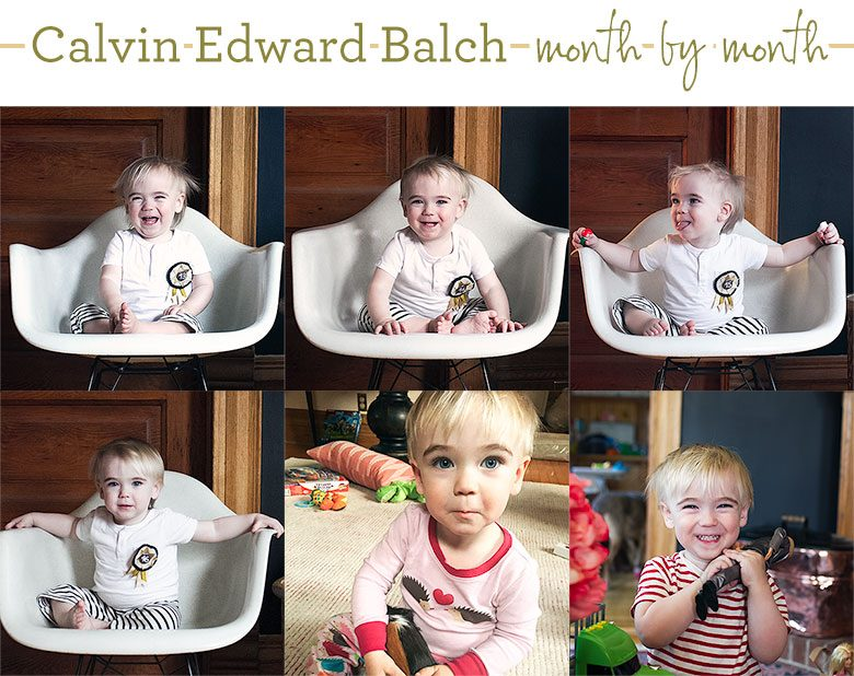 Calvin's Monthly Photos, Thirteen to Eighteen Months