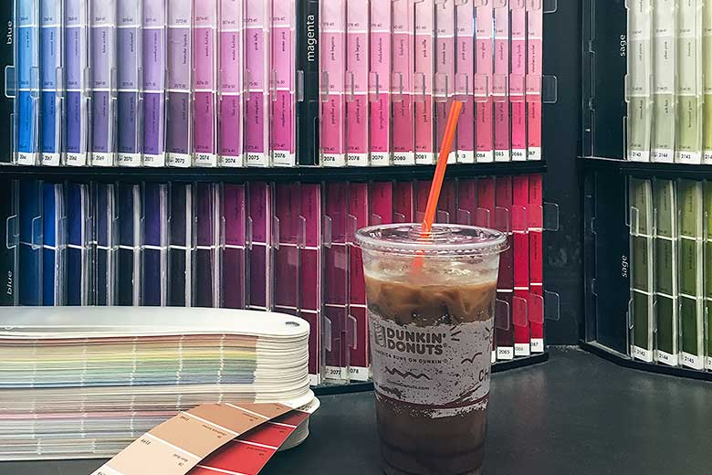 Dunkin' Donuts Iced Macchiato, Plus Lots and Lots of Paint Swatches
