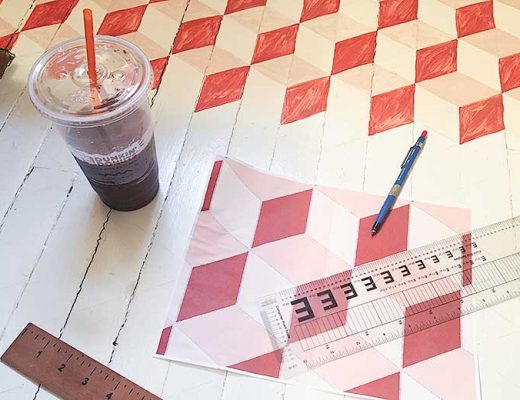 How to Paint a Tumbling Blocks Pattern