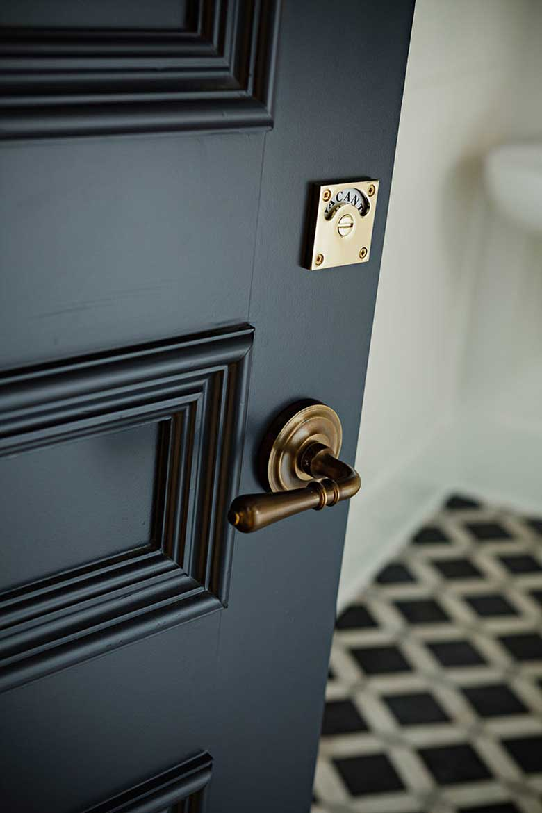 Occupied & Engaged Door Locks - Making it Lovely