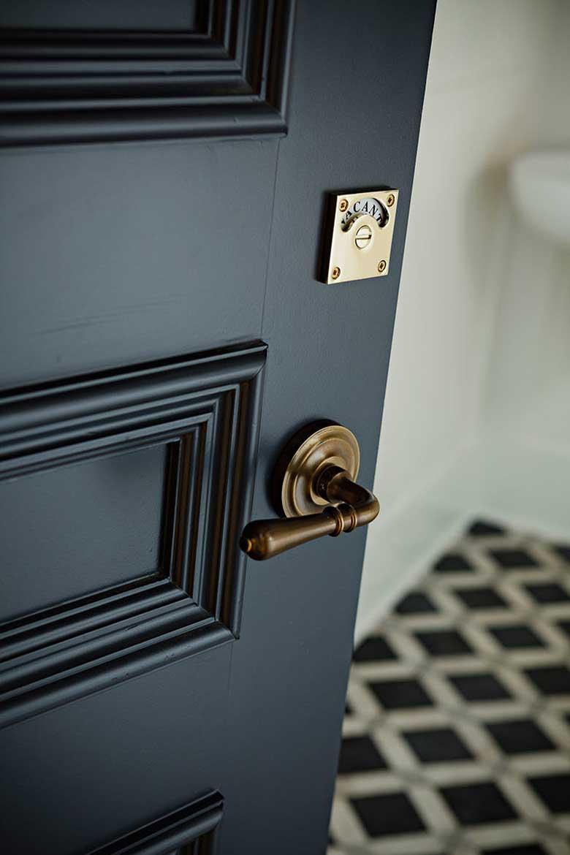 Vacant / Occupied Door Lock - Jessica Helgerson Design